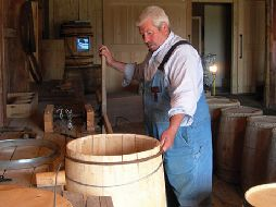 Barrel making. (Photo - Banc de Pêche Historic Site)
