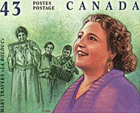 Stamp by Canada Post.