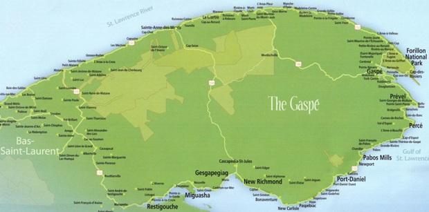 The Gaspé Peninsula /La péninsule de Gaspé