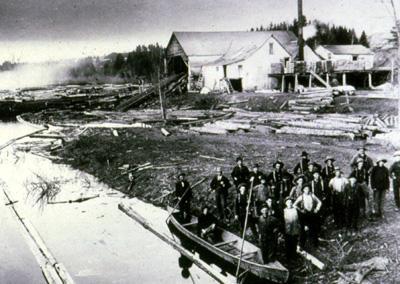 Nadeau's sawmill, Cascapedia.