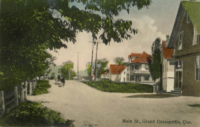 Carte postale, peinte à la main, vers 1910. (Collection privée) / Postcard, hand-painted, c.1910. (Private collection)
