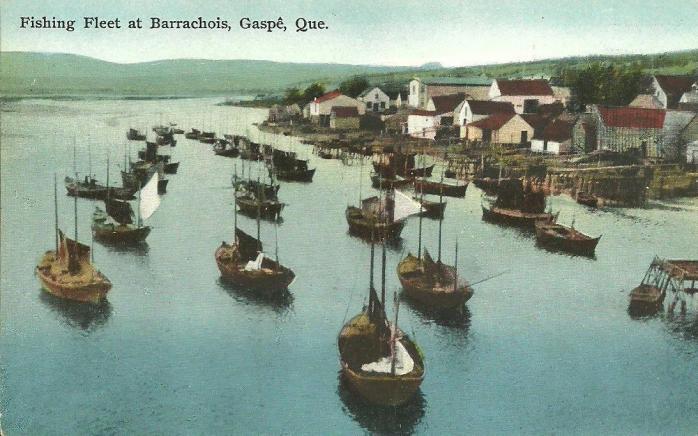 Flottille de pêche, Barrachois, Gaspé, v. 1925 / Fishing fleet, Barrachois, Gaspé, c.1925.