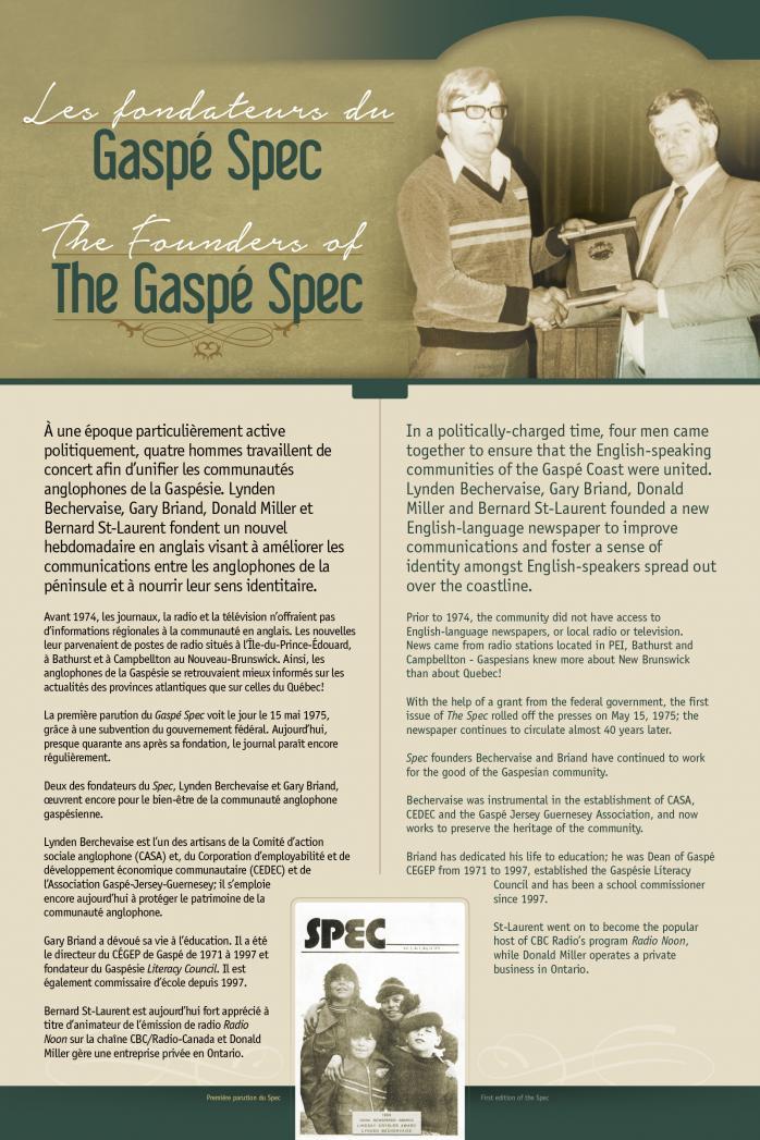 The Gaspé Spec / Le Gaspé Spec