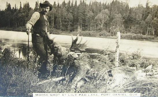La chasse, Lac Lily Pad, Port-Daniel, vers 1920 / Hunting, Lily Pad Lake, Port Daniel, c.1920