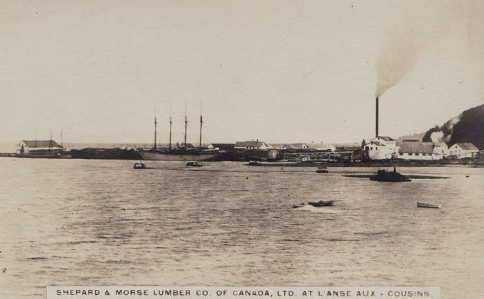 Shephard & Morse Lumber Co, L'Anse-aux-Cousins, vers / circa 1915