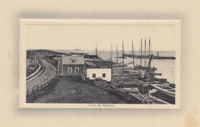Port de Matane, vers 1900 / Port of Matane, c. 1900