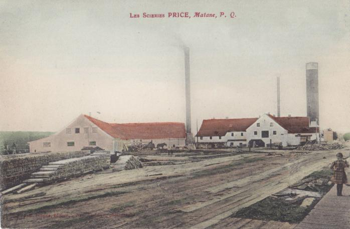 Scieries Price, Matane, vers 1910 / Price Sawmills, Matane, c.1910.
