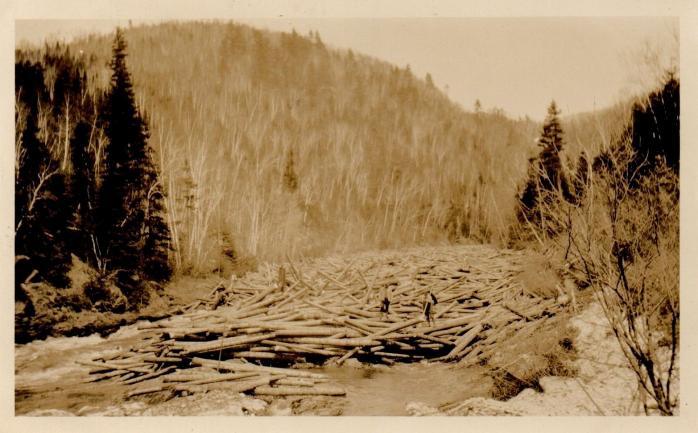 """Nelson Brothers Log Jam,"" Millstream, 1926"
