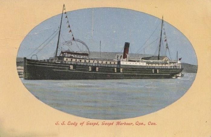 S.S. Lady of Gaspé, Gaspé, 1911.