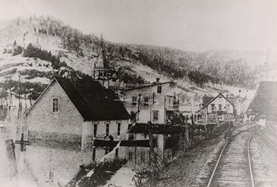 Church and Railway, Matapedia, 1896.