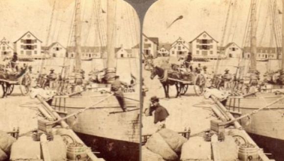 Le quai à Paspébiac / Dock in Paspebiac